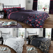 Modern Maria Floral Luxury Duvet Cover Bed Set with Matching Pillowcase All Size