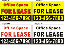 3ftX4.5ft Custom Office Space For Lease Banner Sign with Your Phone Number