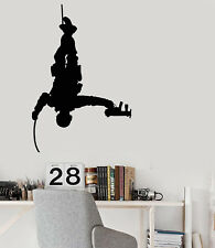 Vinyl Wall Decal Army Soldier With Weapons War Marine Stickers (2444ig)