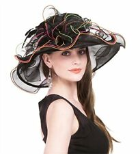 Kentucky Derby Hats Women White Church Hats Ladies Wedding Hats Organza Hats
