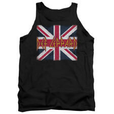 Def Leppard Rock Band UNION JACK Licensed Adult Tank Top All Sizes