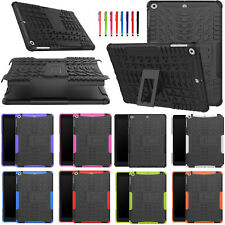 Shockproof Hybrid Armor Rubber + PC Hard Back Stand Case Cover for Apple iPad