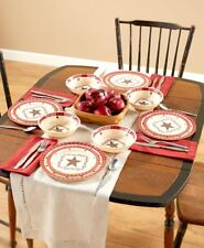 Melamine Dinnerware Choose Americana Or Country Star 12, 24, Or 36 Piece Sets