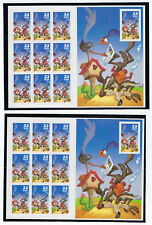 US Scott #3391 3392 M/NH USPS *new* WILE E COYOTE REG & IMPERF ERROR STAMP PANES