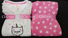 Ladies UNICORN CAT Fleece Pyjamas Women Girls Cosy Winter Nightwear PJs Set 6-20