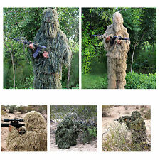 Outdoor Ghost Ghillie Suit  woodland / dry grass 3D camouflage suit Average size