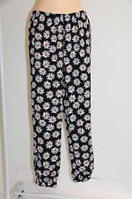 NWT Miken Swim Swimsuit Cover Up Pants Black/Yellow Size L