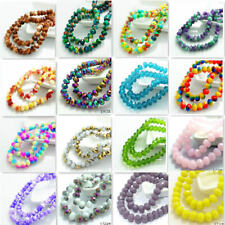 80pcs 8mm Rondelle Faceted Crystal Glass Loose Spacer Beads wholesale 235 Colors