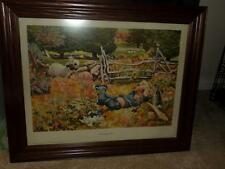 "F.ROJANKOVSKY LITHOGRAPH FRAMED 1945 ""LITTLE BOY BLUE""  NURSERY PICTURE"