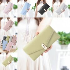 Clutch Bag Long Wallet Lady Multi-card Solid Color Card Holder Purse K0290