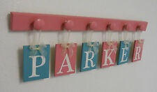 Teal - Pink Baby Girl Nursery Decor, Customizable Name Blocks, Personalized Sign