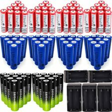 100Pcs 18650 3.7V Rechargeable Li-ion Battery& Charger For Torch Flashlight _