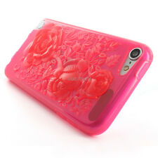 For Apple iPod Touch 5 5G Colorful 3D Flowers Hard Gel TPU Skin Phone Case Cover
