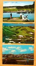3 Postcards RIDDELL'S BAY GOLF COURSE & COUNTRY CLUB Warwick Bermuda c.1910-1965