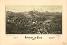 Poster Print Antique American Cities Towns States Map Haydenville Mass