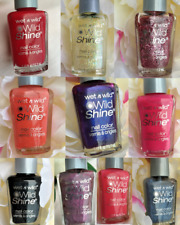NEW Wet n Wild: Wild Shine Nail Polish Lacquer - 10 Fun Colors To Choose From