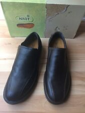 NAOT Success Slip on Leather Dress Loafer Black French Roast Brown US 8 Euro 41
