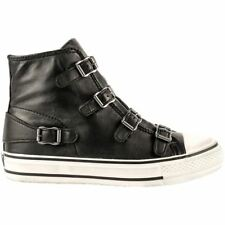Ash Venus Black Womens Leather High-top Sneakers Trainers