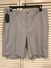 NWT Greg Norman Black White Stripe Golf Shorts Size 36 and 40 MSRP $ 69