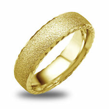 14K-18K  White Or Yellow Gold River Rock Textured Mens Wedding Band