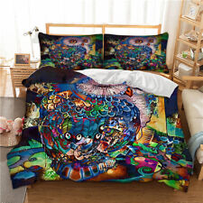 Owl Duvet Cover Set Twin/Full/Queen/King Size Bed Quilt Cover Pillow Cases New