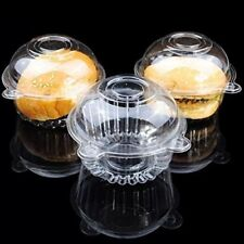 (100) - Cup a Cake Clear Pod Container Individual CupCake Plastic Dome Box For