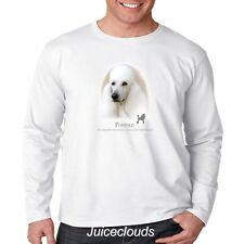 White Poodle Long Sleeve Shirt Poodle Puppy Pet Rescue Dog Owner Men's Tee