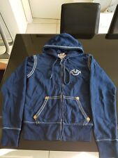 True Religion Zip Up Hoodie Jacket Blue Size S Excellent Condition