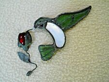 Beautiful Stained Glass Hummingbird & floral Suncatcher / Bird