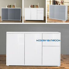 3 Doors High Gloss/Matt Front Chest of 2 Drawers Sideboard Cabinet Cupboard Unit