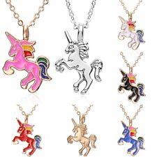 Charm Womens Jewellery Lovely Animal Small Horse Pendant Necklace Chain Gift