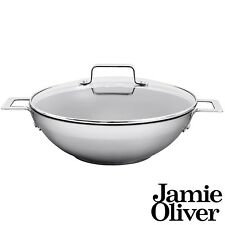 Jamie Oliver Mid Tier Frying Wok with lid 32 cm/Suitable for all Hob