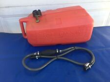 CLEAN Evinrude & Johnson Outboards 6 Gallon Plastic Gas Tank Fuel Tank & Hose