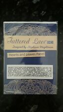 BNIP Tattered lace die cutting dies Hearts and Leaves Panel