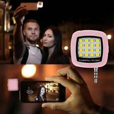 Portable Mini 16 LED Selfie Flash Fill Light for Mobile Cell Phone IOS Android o