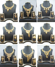 Necklace Indian 22K Gold Plated Bollywood Fashion Gorgeous Necklace Earrings Set