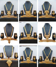 Necklace South Indian 22K Gold Plated Gorgeous Fancy Necklace Earrings Set