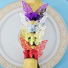 50pcs/Lot Butterfly Style Laser Cut Paper Napkin Ring Wedding Table Decoration