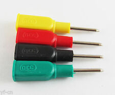 DCC Copper 4mm Banana Female Jack to 2mm Pin Tip Head Test Probes Lot 4 Colors