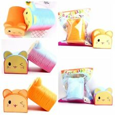 Jumbo Squishy Cute Cat Toast Bread Squishies Slow Rising Scented Squeeze Toy