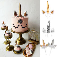 Unicorn Horn Birthday Cupcake Toppers Wedding Baby Shower Party Cake Decoration