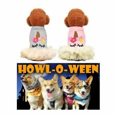 Halloween Pet Dog Unicorn Dress Cosplay Puppy Costume Coat Cats Clothes Hoodies
