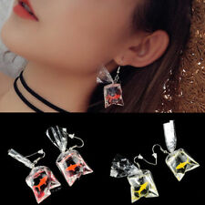 1pairs Cartoon Resin Goldfish Imitation Water Bag Shape Fashion Charms Earrings