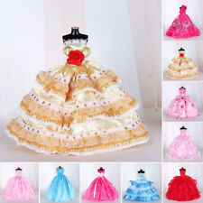 Handmade Dress For Doll Wedding Formal Party Princess For Barbie Dolls Kids Gift