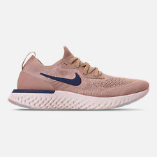 Nike Men's Epic React Flyknit Running Shoes - Diffused Taupe/Blue Void/Phantom