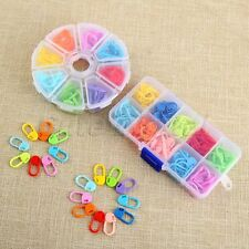 120/104Pcs Mixed color Knitting Crochet Locking Stitch Markers Pins With Case
