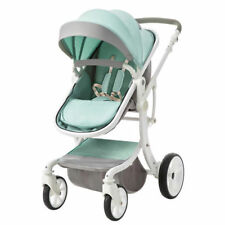 Foldable Baby Pushchair Baby Stroller PU Jogger Carriage Infant Travel Pram