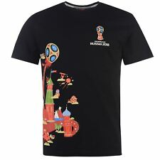 FIFA World Cup Russia 2018 Graphic T-Shirt Mens Black Football Soccer Top Shirt