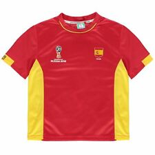 FIFA World Cup 2018 Spain T-Shirt Juniors Red Football Soccer Tee Shirt