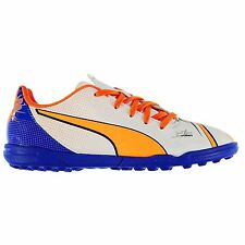 Puma Evopower 4.2 Astro Artificial Grass Trainers Juniors Wht/Or Soccer Shoes